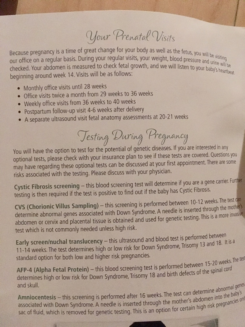 アメリカ出産記録🇺🇸妊婦健診